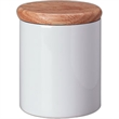 Jar with Wooden Lid - Jar with wooden lid, features air tight ring.