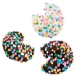 Classic Fortune Cookie Tin of 50 with Confetti - Tin of 50 Luscious Chocolate Fortune Cookies dappled with edible Confetti.