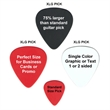 Oversize PVC Guitar Pick - Custom imprinted oversize guitar picks.