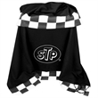 Racing Blanket - Racing blanket with checkered flag.