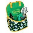 Garden Tote - Floral pattern bag with bottom pocket on top center.