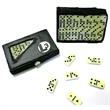 Compact 28 Piece Double Six Domino Game Set - E657 - Compact travel domino game set of double six dominoes in case.