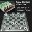 "10"" Glass drink chess set - 10"" Glass drink chess set."