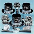 Silver Fantasy Happy New Year Party Kit for 50 - Silver Fantasy Happy New Year kit for 50, blank