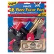 Pirate Favors 48 pc Value Pack - Pirate favors 48 piece value pack, blank