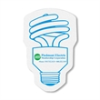 Light Bulb/CFL Budget Size Economical Rubber Jar Opener - Economical CFL bulb shaped rubber jar opener with stock design.