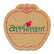 """Apple Shaped Cork Coaster - Apple shaped cork coaster, 1/8"""" thick with stock design. Absorbent and durable."""