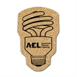 """CFL Light Bulb Shaped Cork Coaster - CFL light bulb shaped cork 1/8"""" thick coaster. Absorbent and durable."""