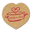 Heart Shaped Cork Coaster - Heart shaped cork coaster made of natural cork. Absorbent and durable.