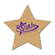 Star Shaped Cork Coaster - Star shaped cork coaster made of natural cork. Absorbent and durable.