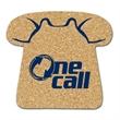"Telephone Shaped Cork Coaster - Cork coaster with stock telephone design, 1/8"" thick."
