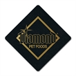 """Diamond Shaped Recycled Tire Coaster - Recycled tire diamond shaped coaster, 1/8"""" thick."""