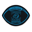"""Football Shaped Recycled Tire Coaster - Recycled tire football shaped coaster, 1/8"""" thick."""