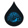 """Flame / Waterdrop Shaped Recycled Tire Coaster - Recycled tire flame/water drop shaped coaster, 1/8"""" thick."""