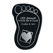 """Foot Shaped Recycled Tire Coaster - Recycled tire foot shaped coaster, 1/8"""" thick."""