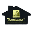 """House Shaped Recycled Tire Coaster - Recycled tire house shaped coaster, 1/8"""" thick."""