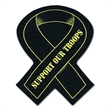 """Ribbon Shaped Recycled Tire Coaster - Recycled tire awareness ribbon shaped coaster, 1/8"""" thick."""