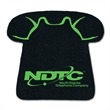"""Telephone Shaped Recycled Tire Coaster - Recycled tire telephone shaped coaster, 1/8"""" thick."""