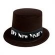 Happy New Year Black Top Hat - Happy New Year black top hat, blank