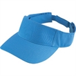 Adult sport twill visor - Embroidered adult sport twill visor with three panels, pre-curved bill and hook.
