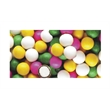 Assorted Gourmet Chocolate Mints Soft Candy - Pastel-colored butter mints dipped in dark chocolate, coupled with bright sweet candy coatings; packed in stock design wrappers.