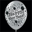 "Happy New Year Silver Latex Balloons - 14"" Happy New Year silver latex balloons, blank"