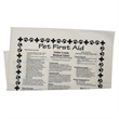 "Pet First Aid Bandana - 22"" x 22"" cotton square-shaped bandana with a variety of helpful first aid information for pets."