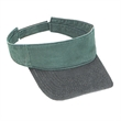 Garment Washed Pigment Dyed Cotton Twill Sun Visor - 100% cotton two-tone sun visor with adjustable hook and loop closure.