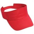 Cotton Twill Sun Visor - 100% cotton sun visor with an adjustable hook and loop closure.