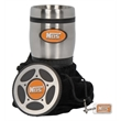 Tire Tumbler Gift Set - Tumbler gift set includes 16 oz. tumbler coaster, silver hang tag and velvet pouch.
