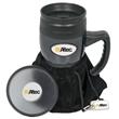 Galaxy Mug Gift Set - Gift set with mug, coaster, silver hang tag and a velvet pouch.