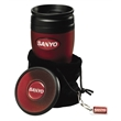 Soft Touch Tumbler Gift Set - Tumbler gift set. Includes tumbler, orbit coaster and hang tag with velvet pouch.
