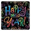 "New Year's Eve Countdown 7"" Square Plates - 7"" New Year's Eve Countdown square paper plates, 8 in a pack, blank"