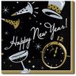Black Tie New Years Party Beverage Napkins - New Years beverage napkins 100 in a pack, blank