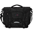 """Santos Executive Messenger Bag - 4.75"""" x 13"""" x 15"""" messenger bag with reflective safety strip, padded laptop compartment, and pocket organizer."""