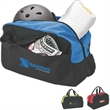 Palmyra Duffel Bag - Polyester duffel bag with hook and loop front pocket and carrying handles.