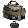 Balbin Duffel Bag - Duffel bag with horizontal compartment, handles, trolley strap, and removable/adjustable shoulder strap.