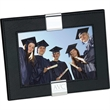 """Magnum 7"""" x 5"""" Photo Frame - Black leather 7"""" x 5"""" photo frame with chrome accents."""