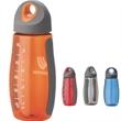 Damaso 20 oz. Tritan™ Water Bottle - 20 oz. BPA-free Tritan plastic bottle with side accent grips and soft rubber grip screw-off cap.