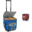 """Rolling Cooler - Rolling cooler with 15"""" extension handle and heavy duty wheels."""