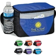 River Breeze Cooler / Lunch Bag - Lunch bag and cooler with 6-can zipper compartment, side mesh pocket, front pocket, and adjustable carrying strap.