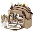 Picnic Set & Cooler Tote - 4 person picnic cooler set.