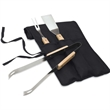Barbecue Set - Three piece barbecue set with wood handled steel barbecue tools.
