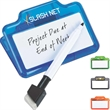 Dry-erase and memo clip - Dry-erase and memo clip with marker.