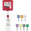 """Divo Badge Holder with Clip - 0.62"""" x 3.31"""" x 1.25"""" Divo square retractable badge holder with standard clip and secure snap design."""