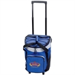 Rolling cooler - Economical polyester rolling cooler with sturdy pull-up handle and wheels.