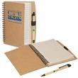 Eco-Note Keeper Combo - Combination eco-note keeper and eco-green paper barrel pen.