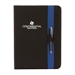 In-Line Padfolio - Padfolio has interior organizer, includes a second pen loop.