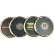 Solid brass coaster - Solid brass coaster with die struck emblem.