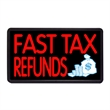 """Fast Tax Refunds 13"""" x 24"""" Simulated Neon Sign  - Custom Simulated Neon Sign.  13"""" x 24"""" Ready Made Title Light Box  Fast Tax Refunds"""